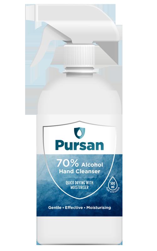 70% Alcohol Hand Sanitiser 500ml - Trigger Spray