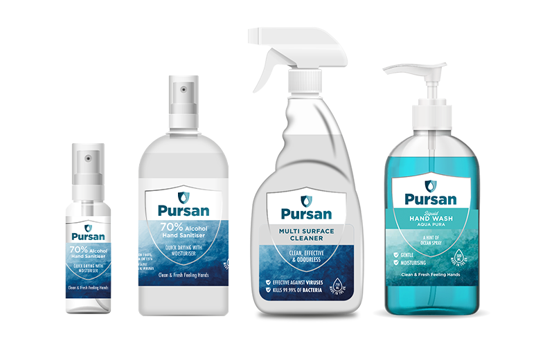 Collection of Pursan Products